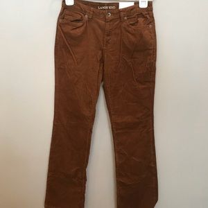 NWT Lands' End Bootcut Cords